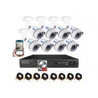 Kit AKU 8 camere + HDD 1TB, AHD 1.3 MP + DVR FULL HD