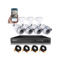 Kit  AKU 4 camere + HDD 1TB, rezolutie AHD SUPER HD 1.3MP + DVR 4 canale FULL HD