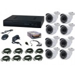 Kit video supraveghere Aku 8 camere interior/exterior 1MPxl + DVR 8 canale H264 rezolutie AHD-M