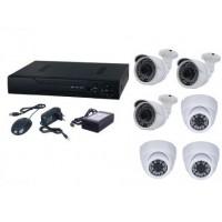 Kit sistem supraveghere AKU 6 camere interior/exterior 1MPxl IP digitale/NVR 8 canale