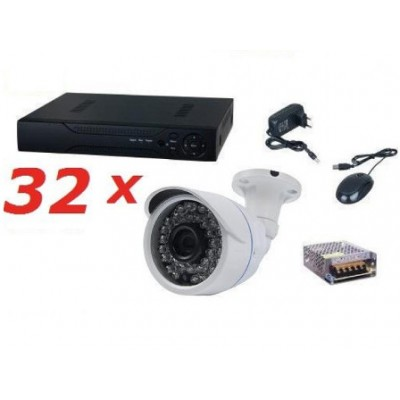 Kit sistem supraveghere complet AKU 32 camere exterior 1.3MPxl /DVR 32 canale AHD-M