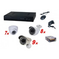 Kit sistem supraveghere complet AKU 24 camere interior/exterior 1.3MPxl / DVR 24 canale AHD-M