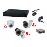 Kit sistem supraveghere complet AKU 24 camere interior/exterior 1.3MPxl / DVR 24 canale AHD-M