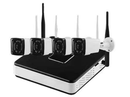 Kit sistem supraveghere aku 4 camere exterior wireless 1 3mpxl aku9526 for Camere supraveghere exterior wireless
