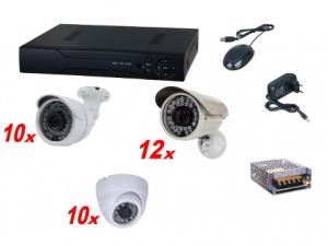 Kit sistem supraveghere complet AKU 32 camere interior/exterior 1.3MPxl + DVR 32 canale AHD-M