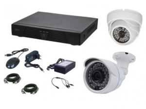 Kit supraveghere video AKU 2 camere interior/exterior 4.0MPxl / DVR H264 AHD 4 canale + cablu