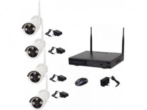 Kit supraveghere Full HD Wireless WiFi AKU 4 camere ARRAY exterior 1.3MPxl IP + NVR 4 canale