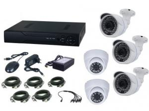 Kit supraveghere video Aku 5 camere interior/exterior 1MPxl + DVR 8 canale H264 rezolutie AHD-M
