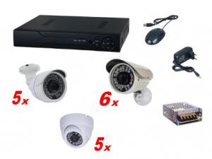 Kit sistem supraveghere complet AKU 16 camere interior/exterior 1.3MPxl /DVR 16 canale AHD-M